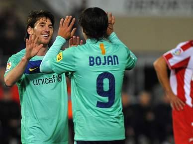 8-0 ao Almeria e liderança provisória