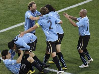 Gana e Uruguai no primeiro embate