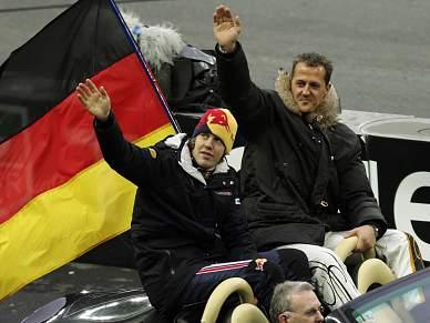 Vettel e Schumacher na Corrida dos Campeões