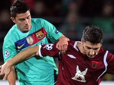Barcelona empata com Rubin Kazan 1-1