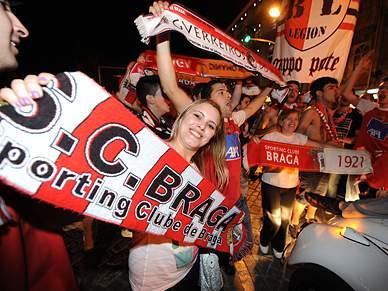 Cidade de Braga ao rubro