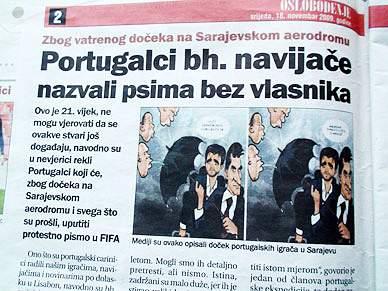 Cartoon do Sapo Desporto destacado na imprensa Bósnia