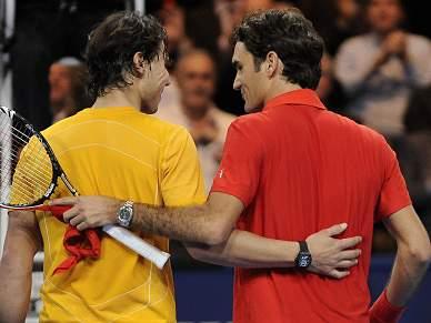 Federer e Nadal entram em 2011 no court