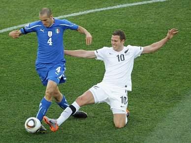 Itália empata com Nova Zelândia