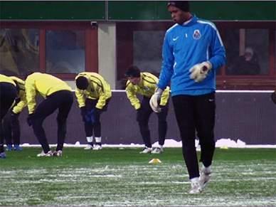 FC Porto já treina sob neve vienense