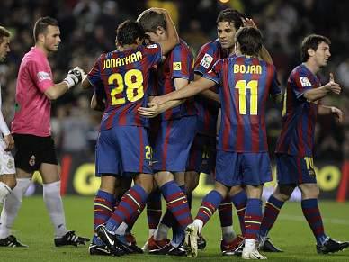 Barça passa aos oitavos-de-final