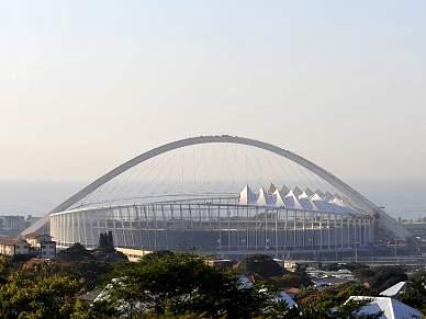 Cidade de Durban ainda está em obras