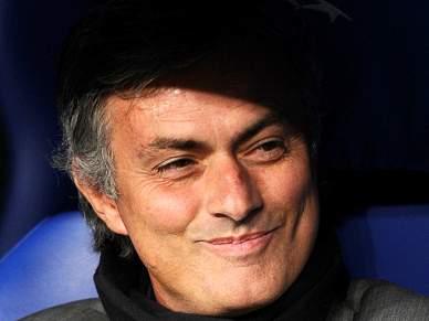 José Mourinho radiante com a equipa