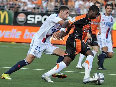 Lyon derrotado pelo Lorient