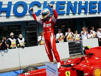 Alonso impõe-se em Hockenheim