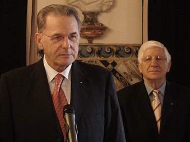 Cavaco e Sócrates receberam Jacques Rogge