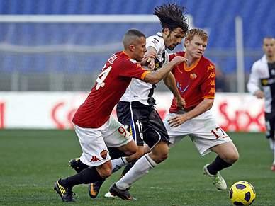 Roma deixa-se empatar pelo Parma