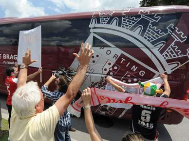 Braga recebido em euforia
