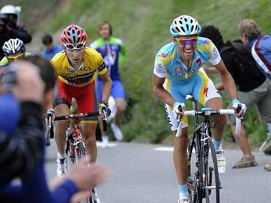 Contador e Brajkovic num