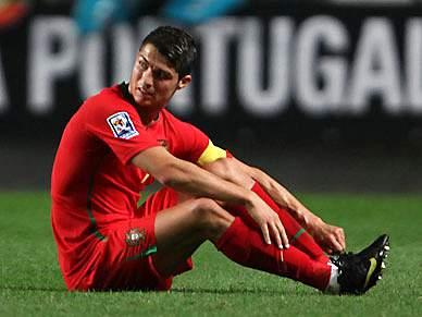 Cagador de Ronaldo no presépio