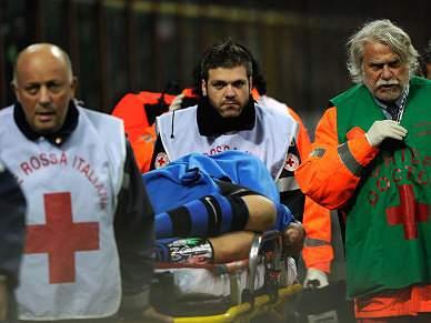 Materazzi, lesionado na cara, evacuado para hospital