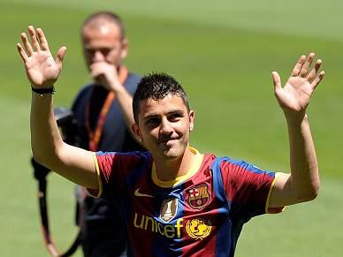 David Villa deixa Barcelona em delírio