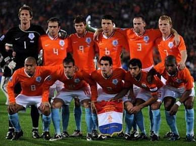 Holanda é a primeira selecção nos