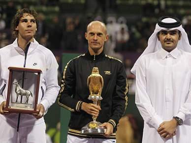 Davydenko bate Rafael Nadal na final do Torneio Doha