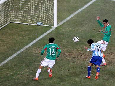 Golo irregular na vantagem da Argentina