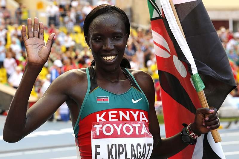 Edna Kiplagat vence maratona e conquista primeiro ouro