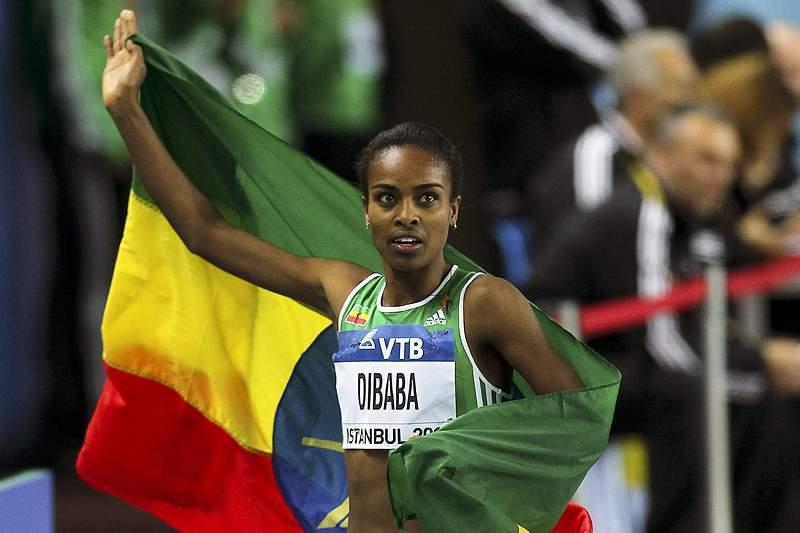 Genzebe Dibaba bate recorde do Mundo dos 1.500 metros