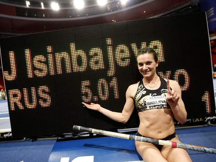 Isinbayeva salta para a sua 28.ª marca mundial