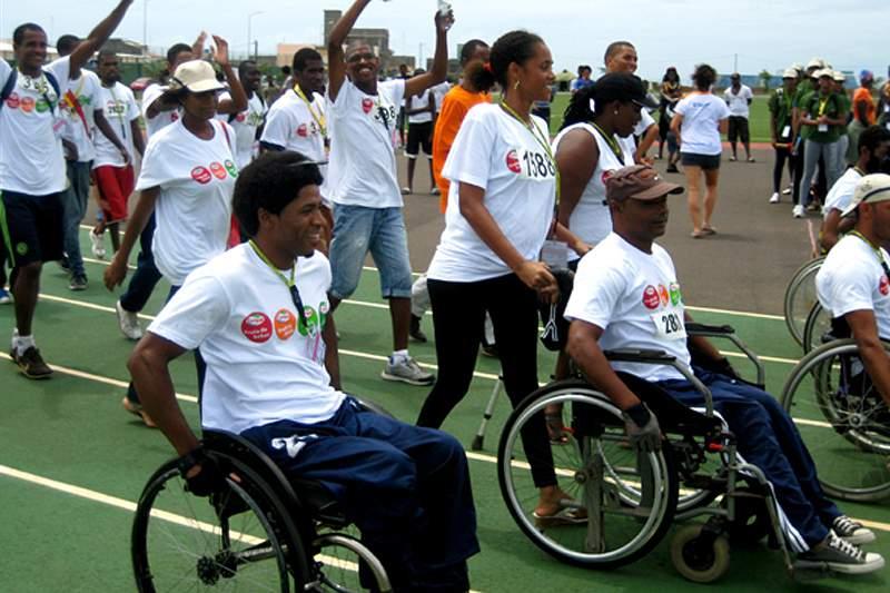 Atletas paralímpicos na Taça Lwini em Angola