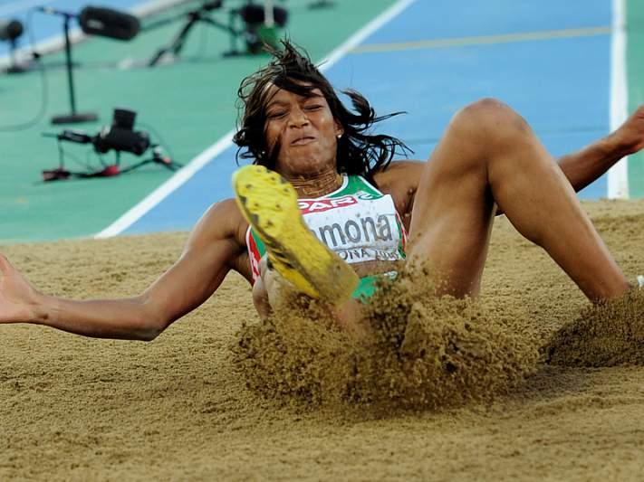 Patrícia Mamona prata no triplo salto feminino