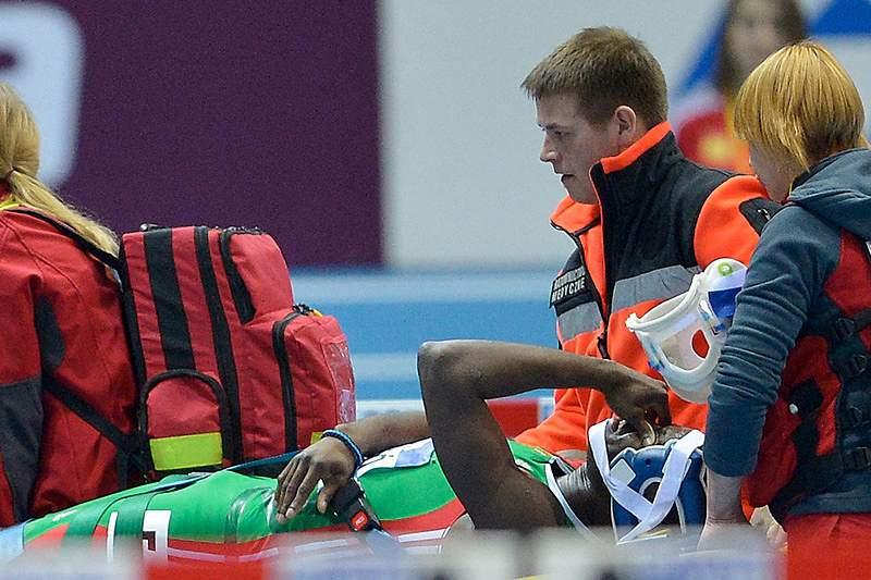 Rasul Dabo fratura um antebraço nos Mundiais de pista coberta
