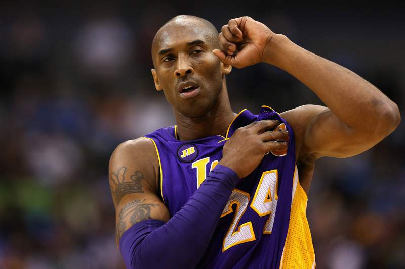 Kobe Bryant já é o quarto melhor marcador da NBA