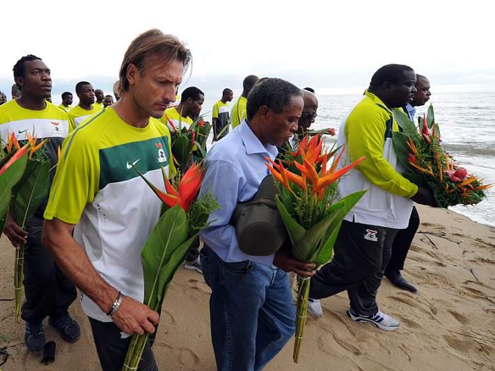 Zâmbia premeia jogadores campeões