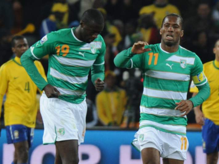 Onze Africano do Ano com Yaya Touré, Drogba