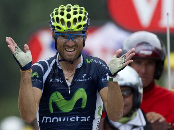 Valverde cai e atrasa-se, Joaquin Rodriguez é o novo líder