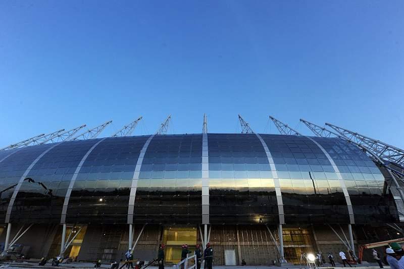 O recém-construído Estádio de Fortaleza