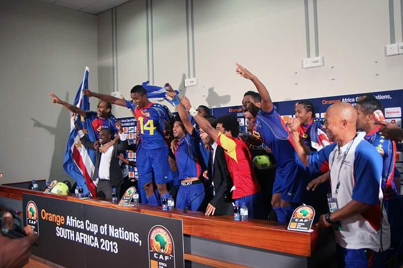 Cabo-verdianos fazem festa na sala de imprensa