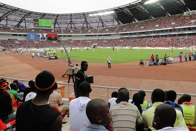 Angola-Camarões no estádio da Tundavala