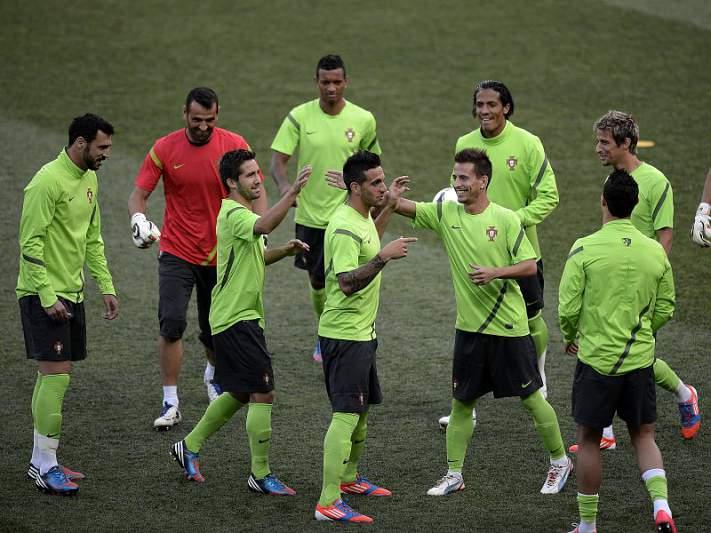 Portugal cumpriu último treino antes do jogo com a Holanda