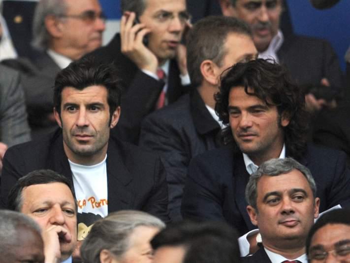 Figo e Fernando Couto distinguidos pela UEFA