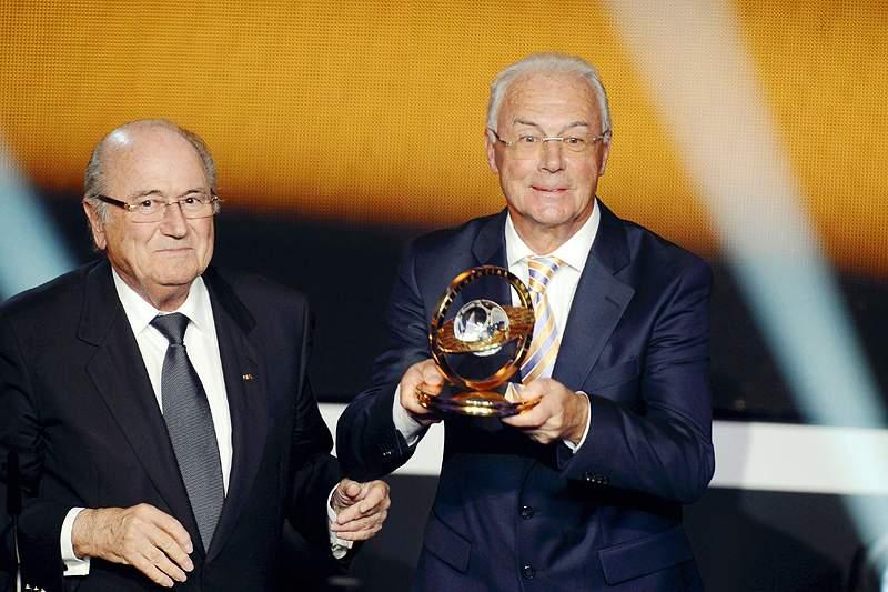 Alemão Franz Beckenbauer é homenageado