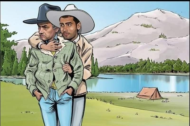 Mou e Pep em cena de Brokeback Mountain