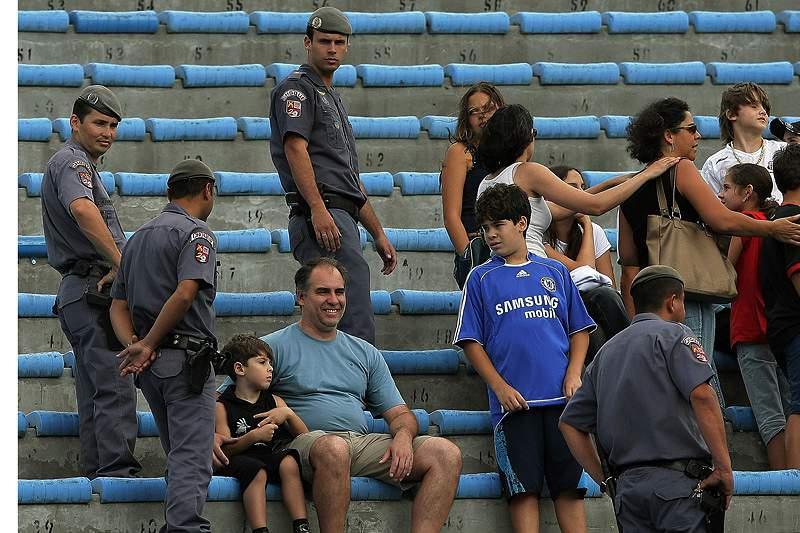 A polícia militar já estava encarregue da segurança de grande parte dos eventos desportivos