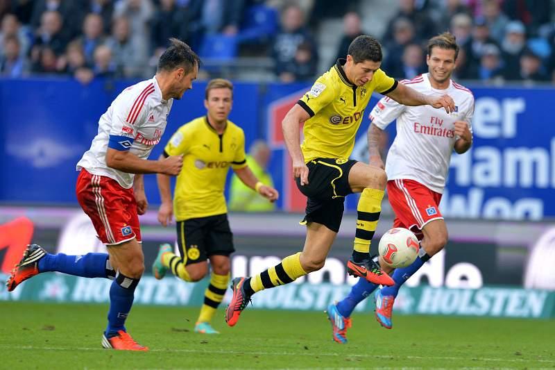 Campeão Dortmund perdeu em Hamburgo