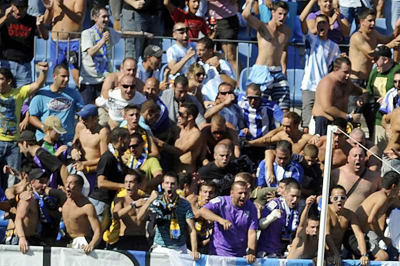 Os adeptos do Málaga acreditam na 'remontada' contra o FC Porto