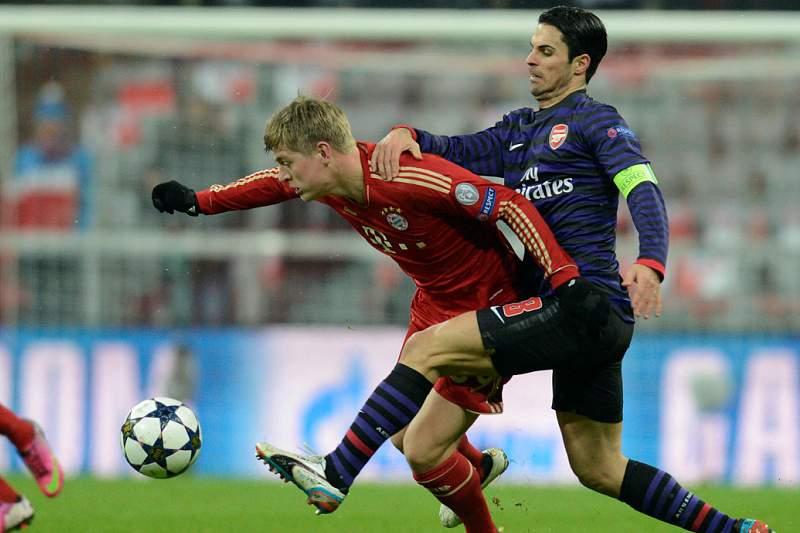 Arsenal assustou Bayern mas não avança