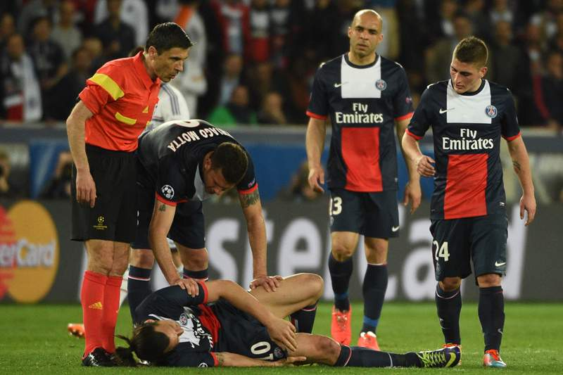 Blanc lamenta lesão de Ibrahimovic