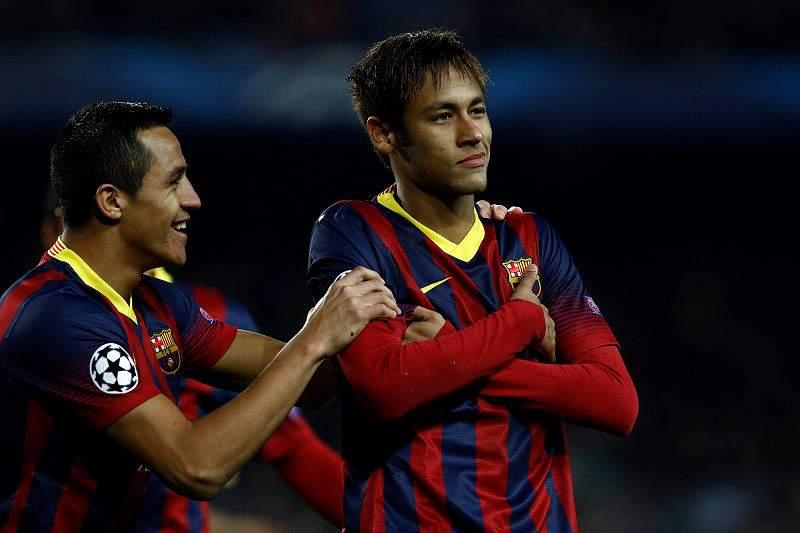 Barcelona vence grupo H com goleada e grande noite de Neymar