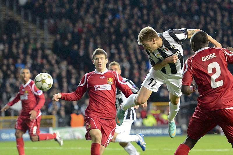 Juventus sai da Dinamarca com empate