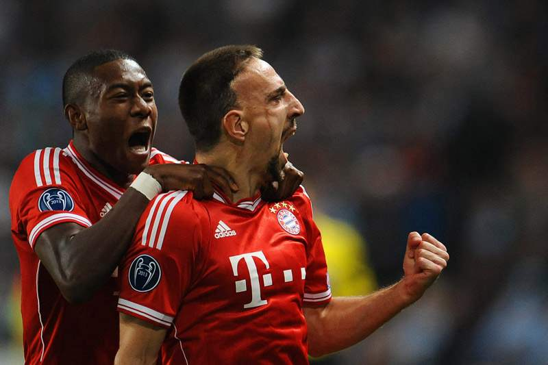 Guardiola sem Ribéry frente ao Arsenal