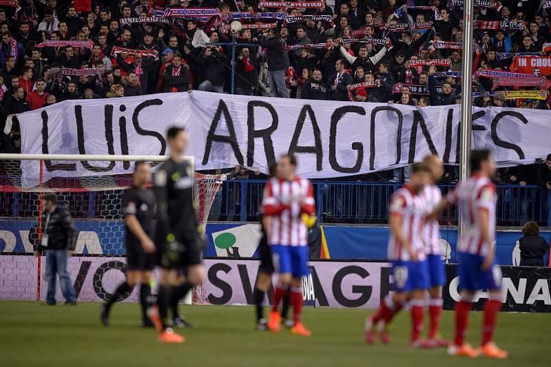 Atlético de Madrid na missa fúnebre de Luis Aragonés